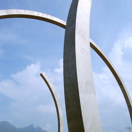 En espiral - 18.00 x 24.00 x 24.00 mts. - Forum Universal de las Culturas. Monterrey. Nuevo León, México.